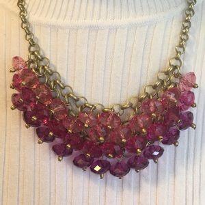 Jewelry - Pink magenta purple beaded necklace